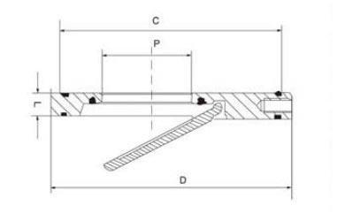 Wafer type swing check valve diagram