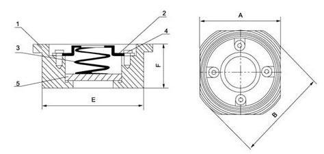 Schema Valvola di ritegno wafer a disco PN6-40