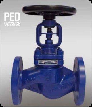 Flanged globe valve PN40