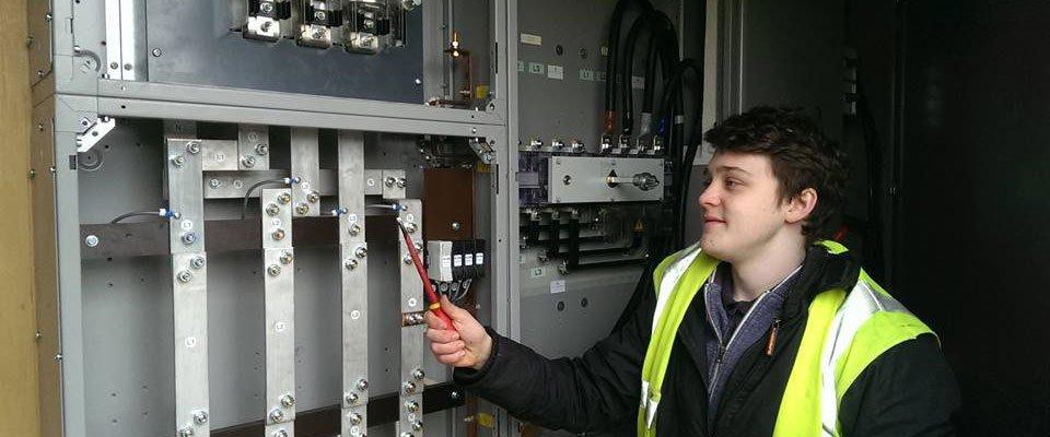 industrial electrical work in progress