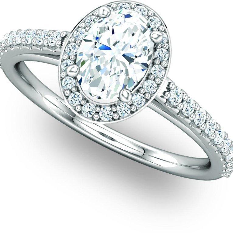 Exquisite Halo Engagement Ring