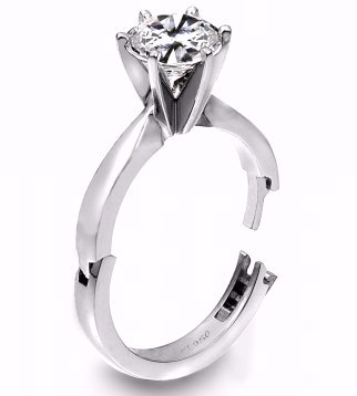 High-quality engagement ring