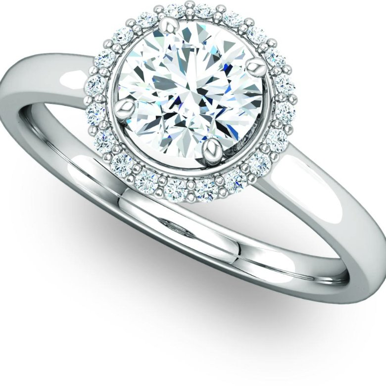 Beautiful Halo Engagement Ring