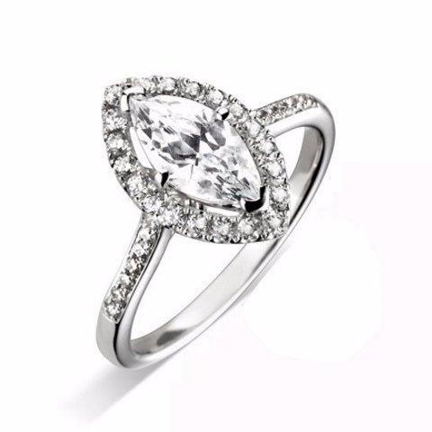 Handmade Halo Engagement Ring