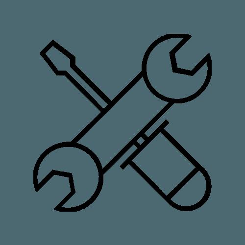 chiave inglese e cacciavite