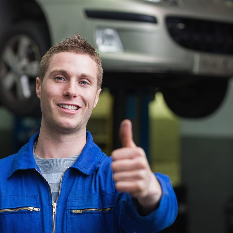 Mechanic after a vehicle inspection in Queanbeyan