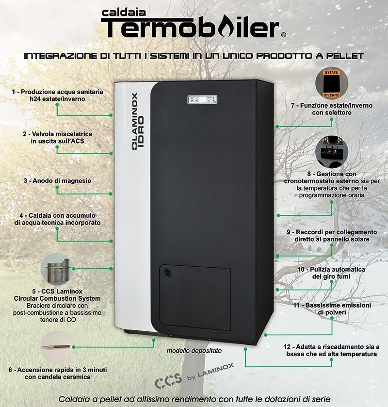 Stufa Laminox Termoboiler