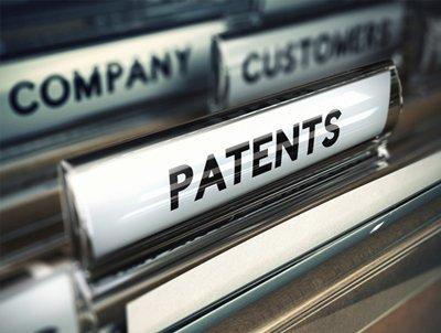 Patent label in file
