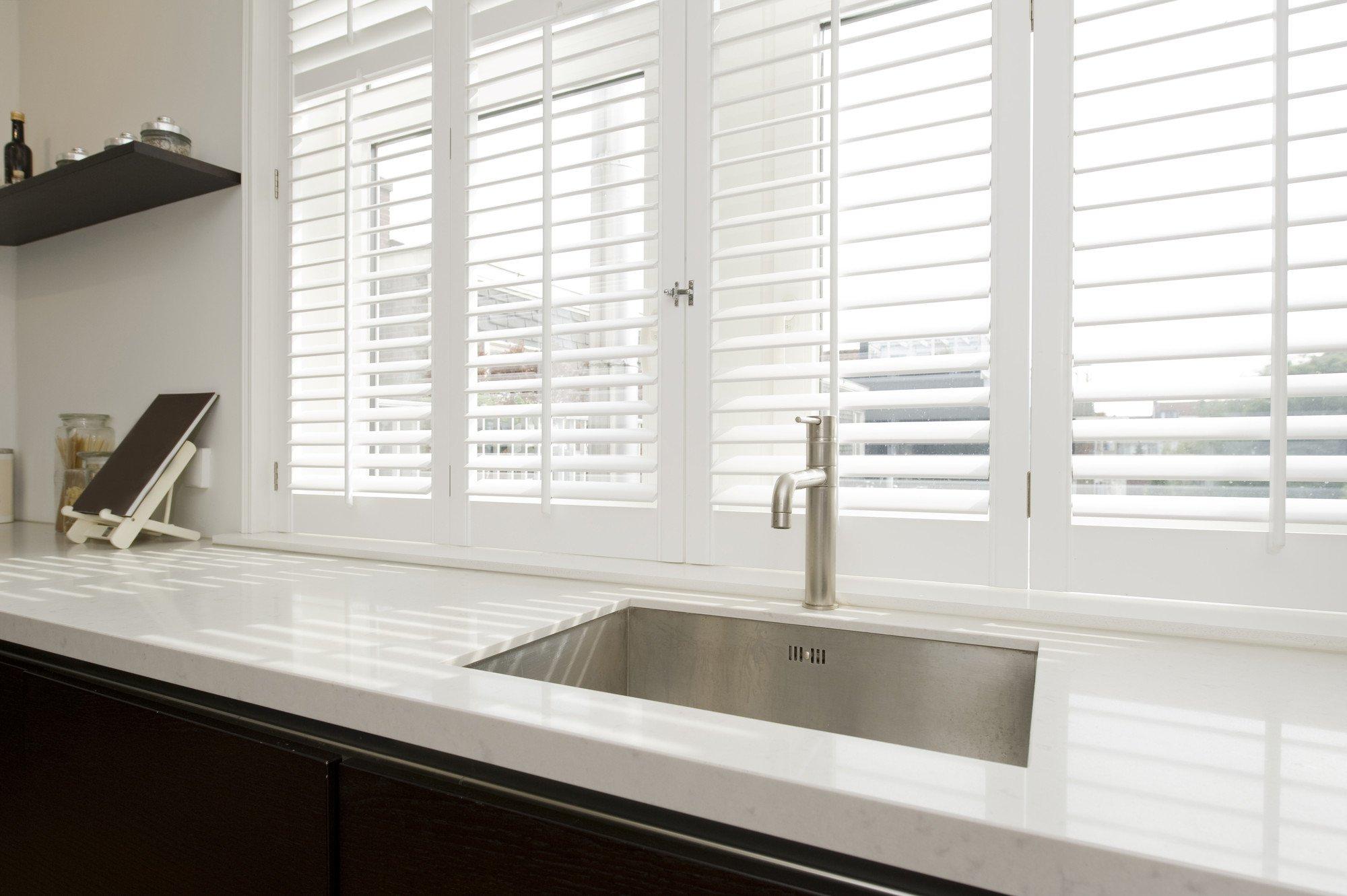Kitchen bench with windows