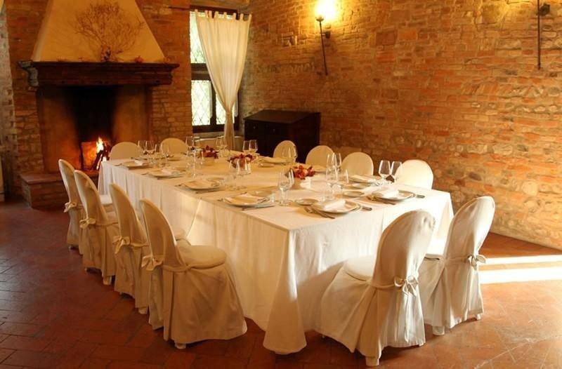Il tavolo per il banchetto