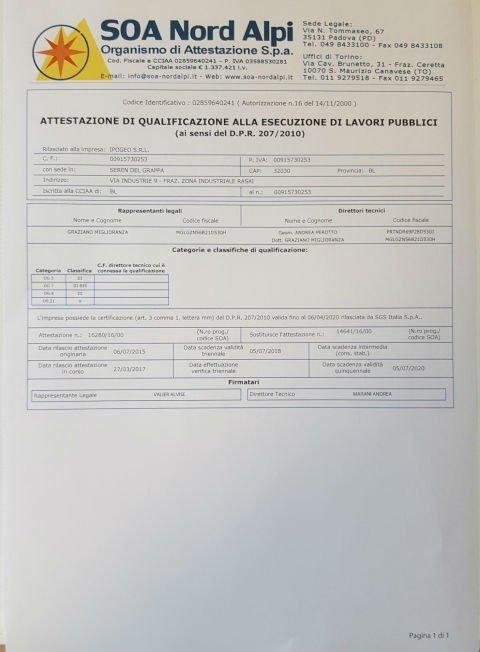 certificato soa nord alpi