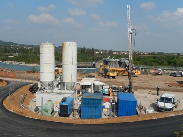 cantiere di nuova centralina da 2 megawatt