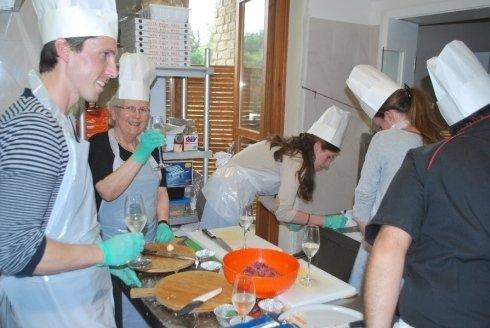 La preparazione degli ingredienti