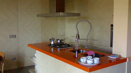Cucina laccata goffrata