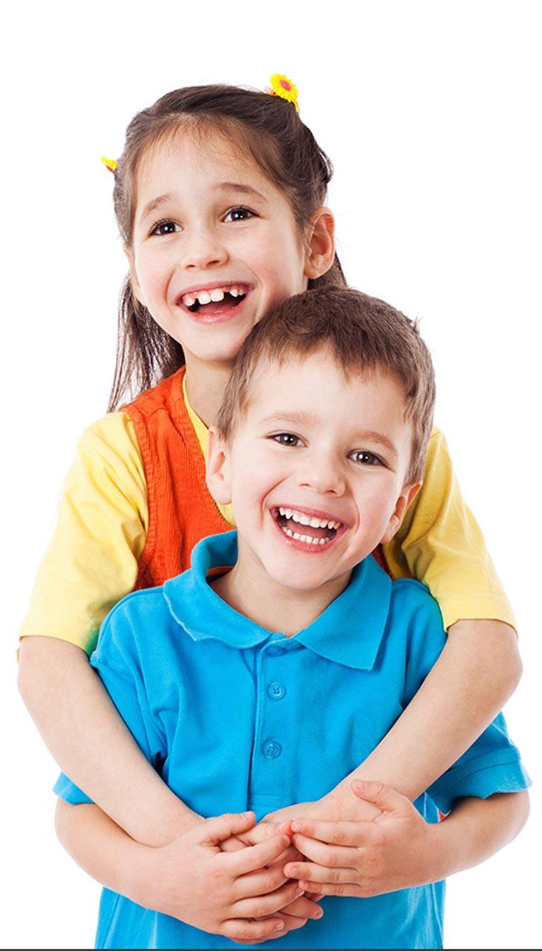 children's dentistry two children smiling