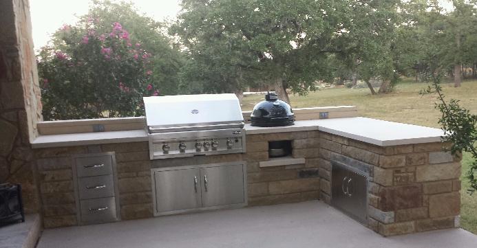 outdoor kitchen designs with smoker. outdoor kitchen with grill  and smoker Outdoor Kitchens JC Stoneworks Georgetown TX