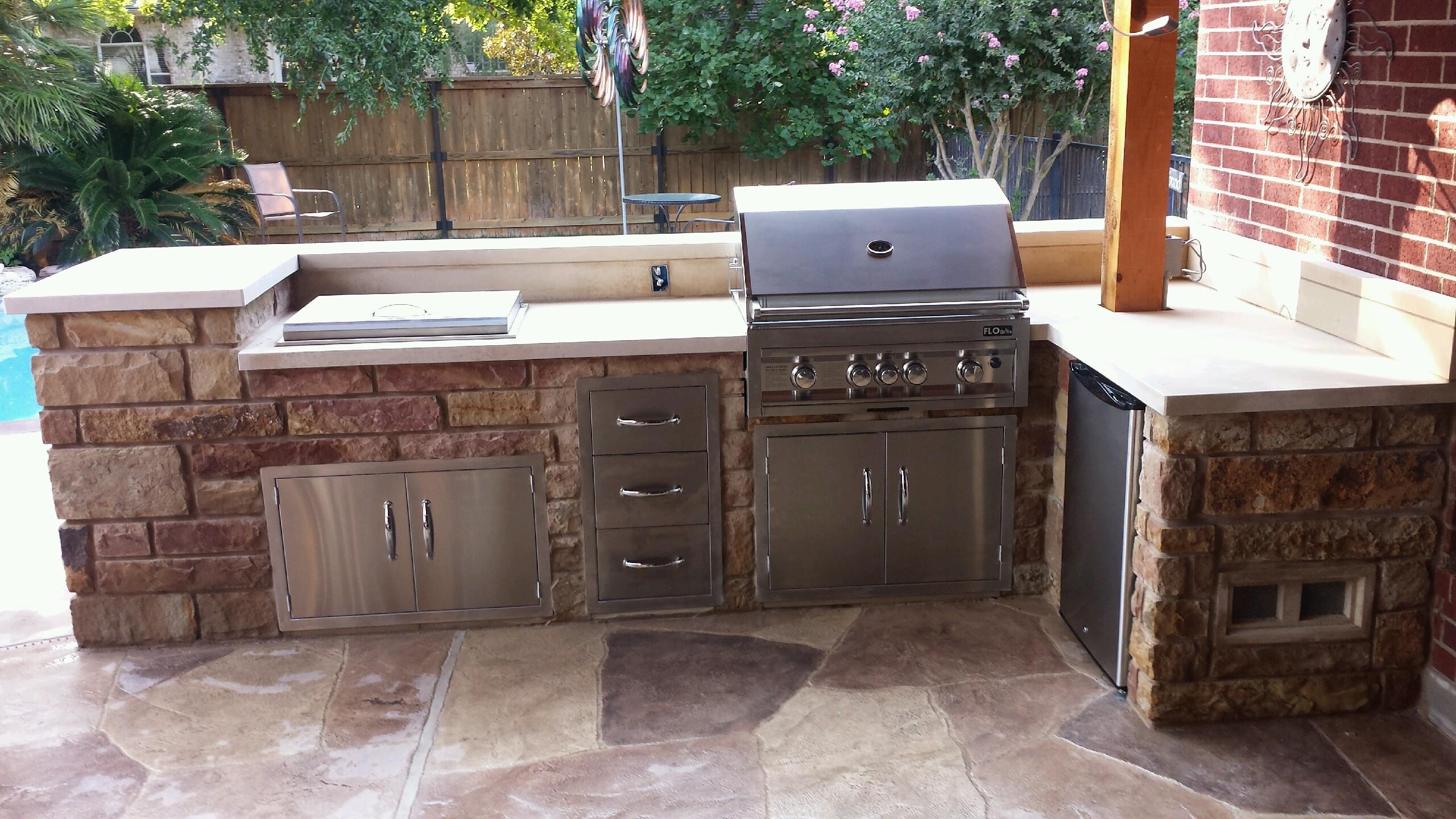 Outdoor Bbq Kitchen Ideas Outdoor Kitchens Jc Stoneworks Georgetown Tx