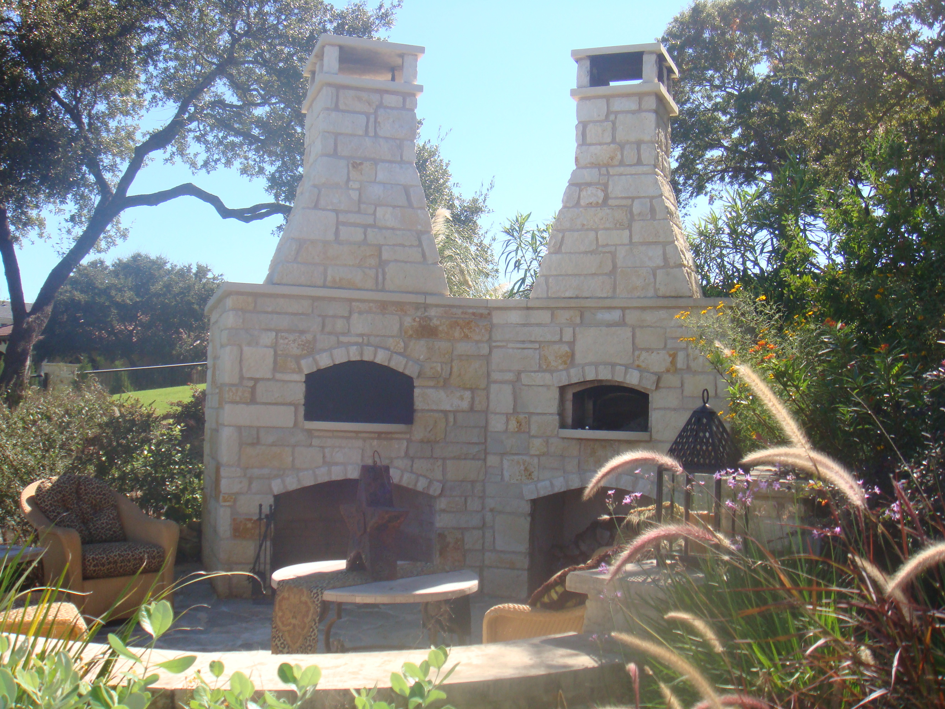 patios with fireplaces. outdoor fireplace and oven on patio with stone steps Outdoor Patios Fireplaces  Firepits JC Stoneworks Masonry