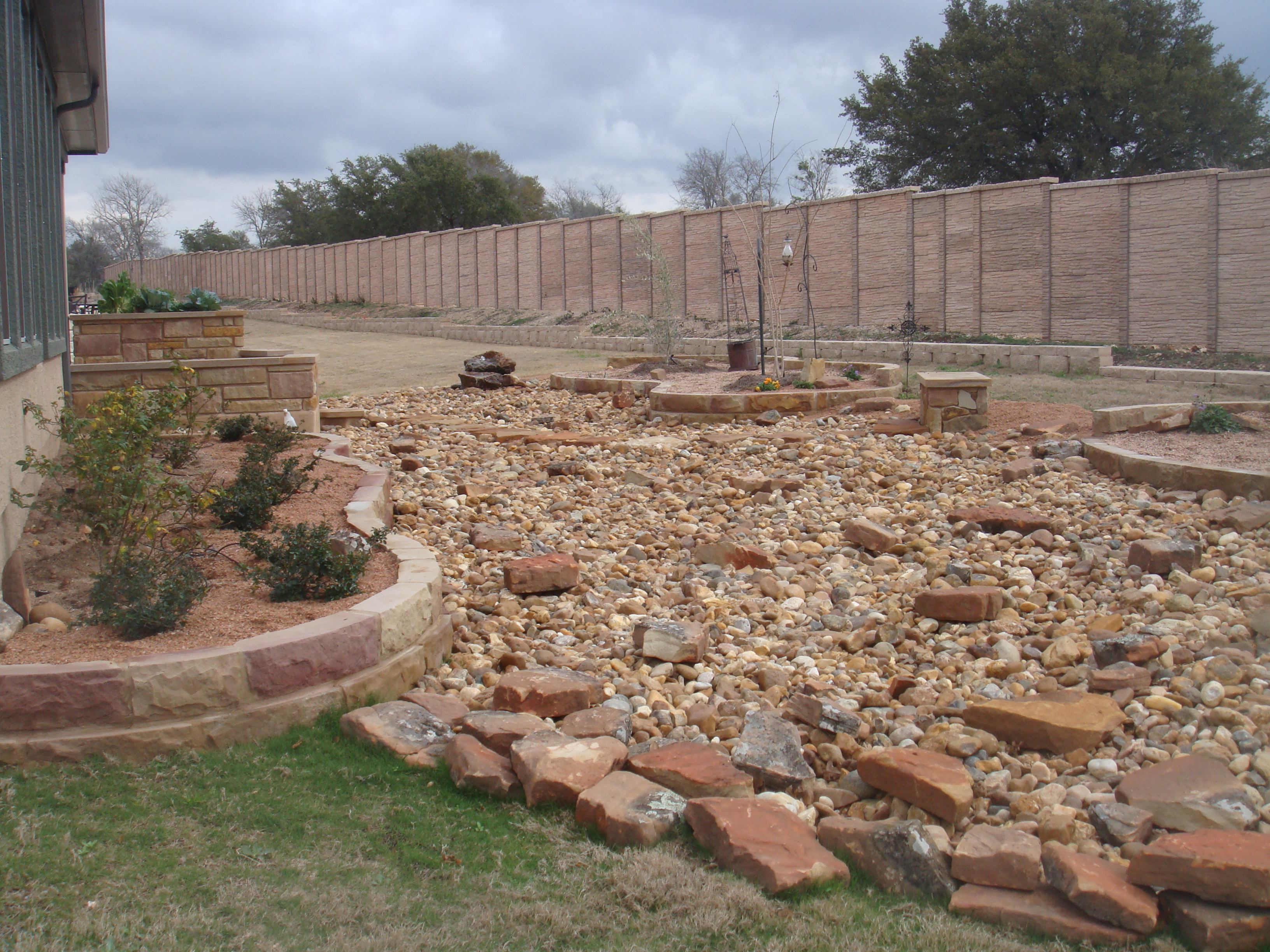 draining and landscaping jc stoneworks georgetown tx