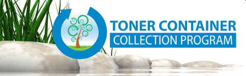 toner container collection program logo for Bluegrass Office Systems Lexington KY
