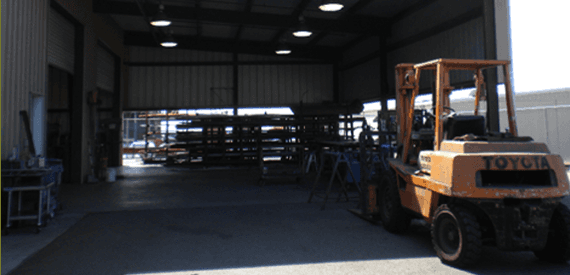 Our company's steel fabrication and welding garage
