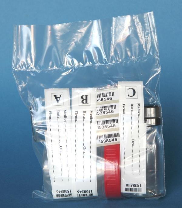 Kit di accertamento assenza tossicodipendenza, legge n°131 del 2003 - Kit realizzato con flaconi di vetro da 40 ml