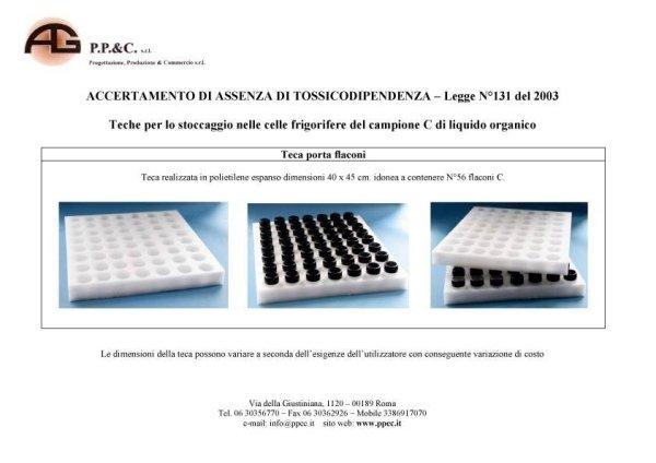 Box for storage of C organic liquid sample in cold storage