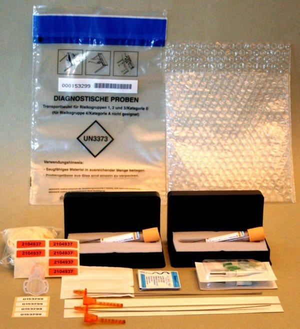 Doping kits for blood / urine cross-checks used by FMSI (Italian Sports Medicine Federation)