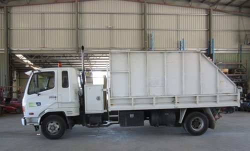 View of the truck after repair