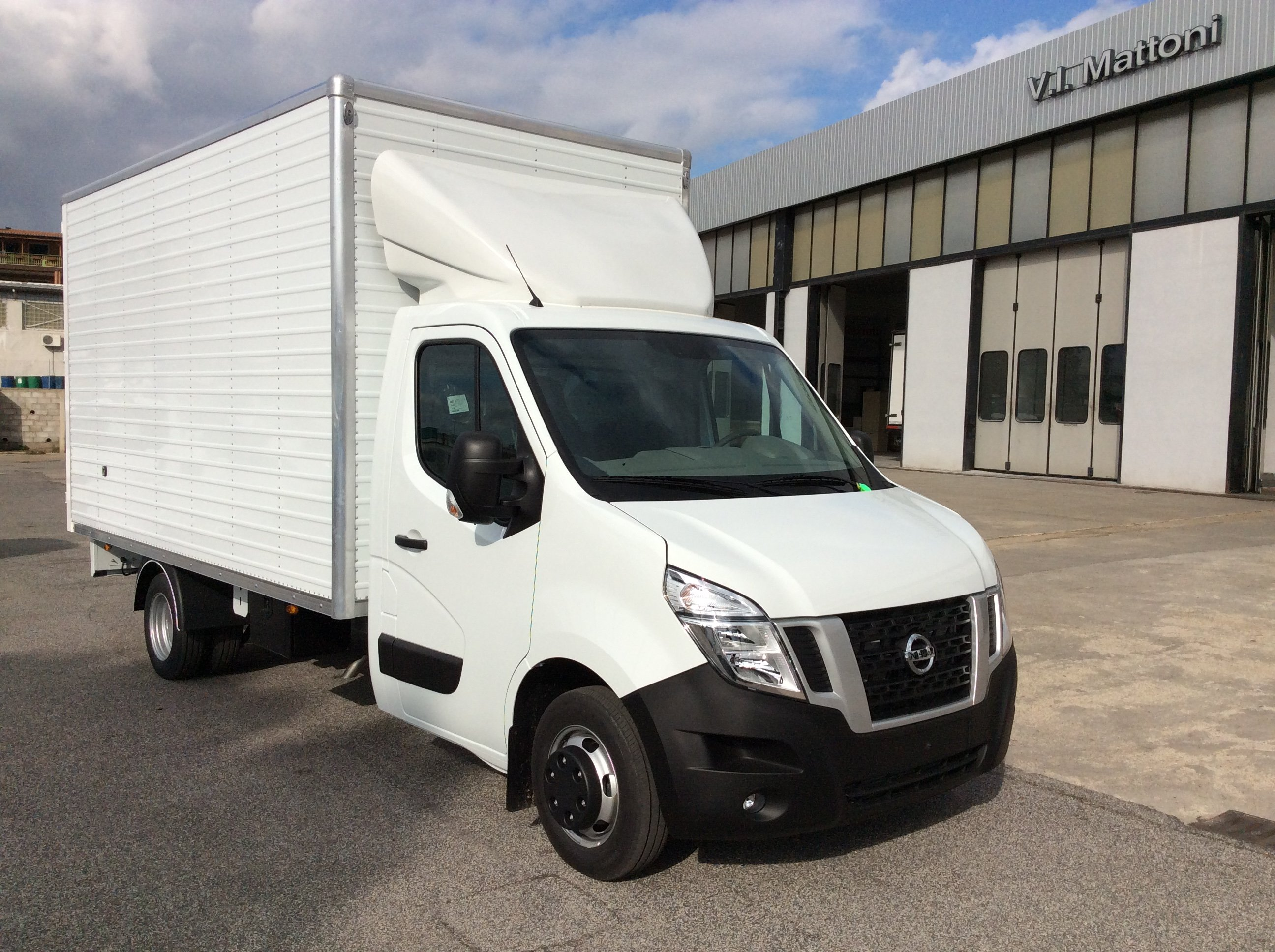 vista frontale camion