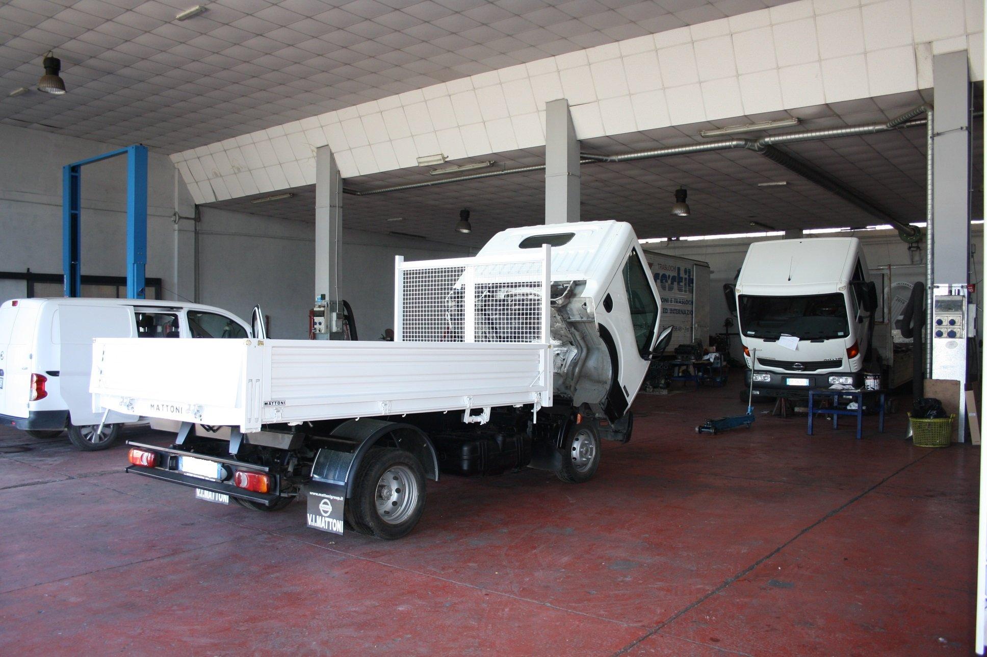 Officina assistenza per veicoli commerciali