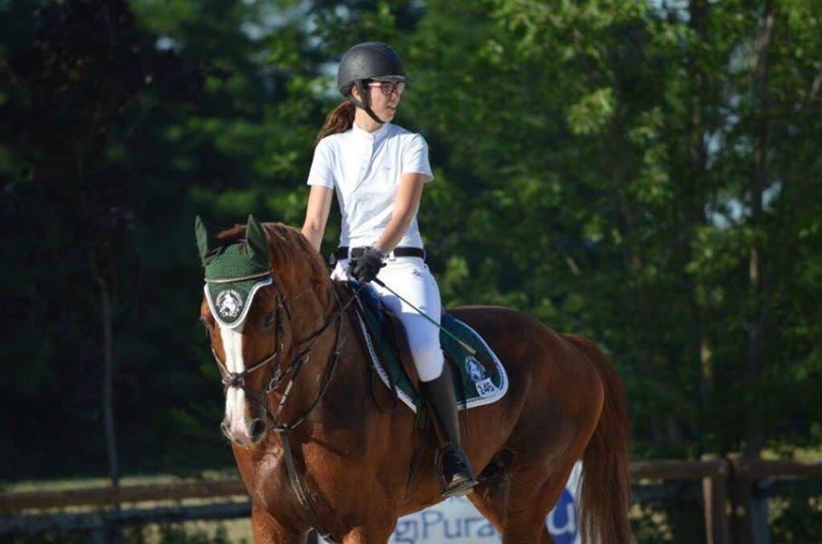 Laura Ferrero a cavallo