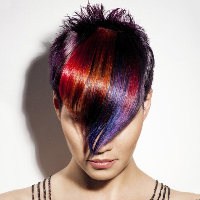 hairmoves hair model rainbow