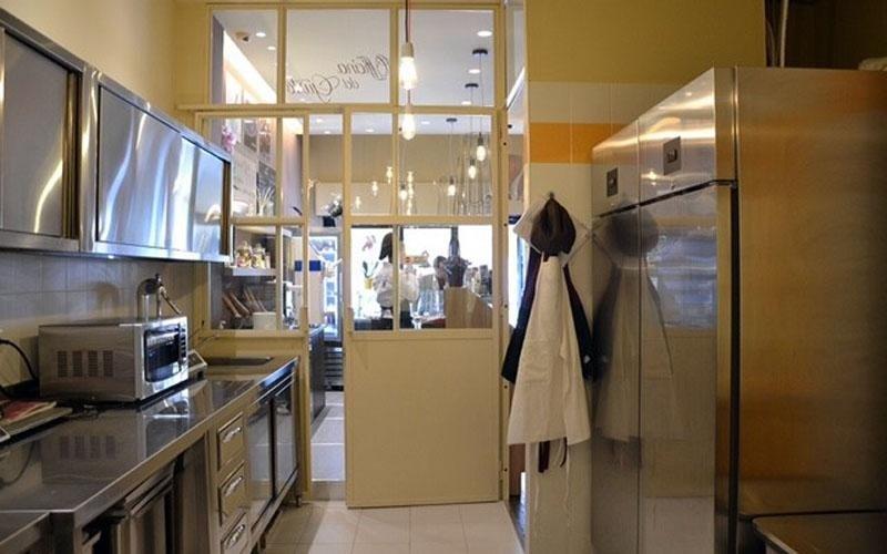 Il laboratorio della gelateria