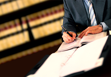 Lawyer checking clauses in High Point, NC
