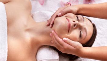massaggio, viso, estetica, trattamento viso