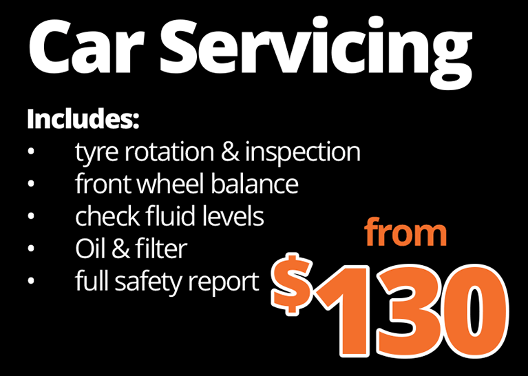 Car servicing services from 130 dollars