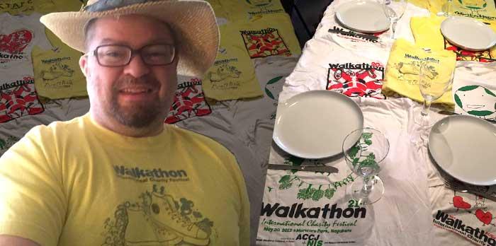 Walkathon T-Shirt Tablecloth