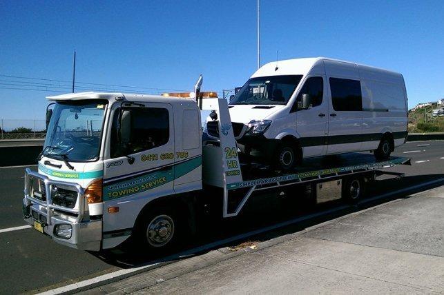 towing white van