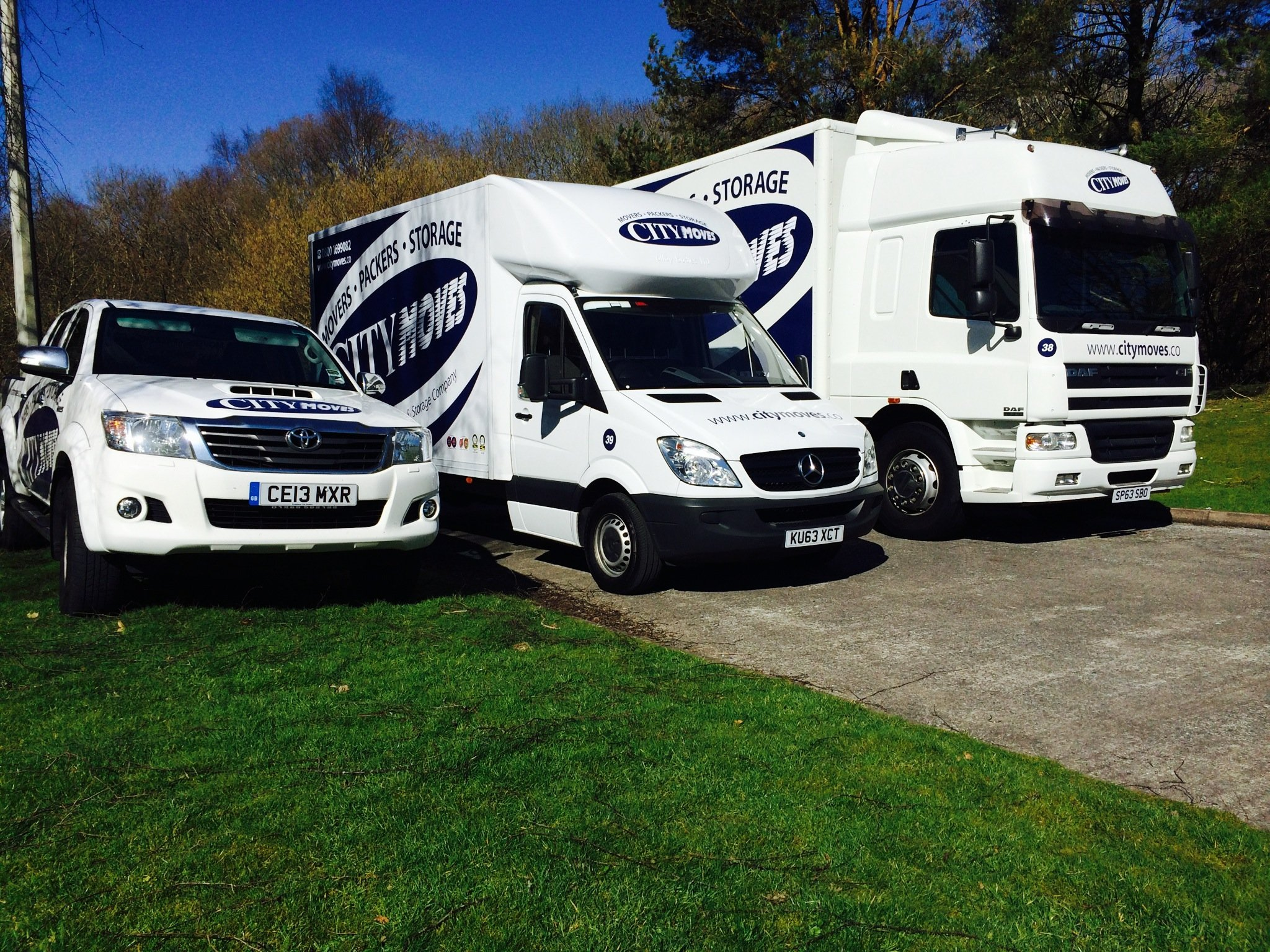 Removal lorry fleet City Moves