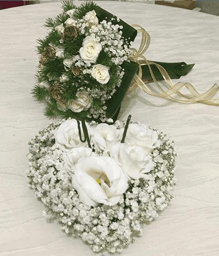 bouquet e portafedi