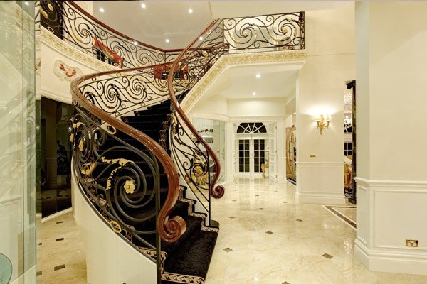 Custom Home Strathmore staircase