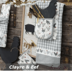 tessuti al metro Clayre & Eef collezione CAO Chicken all over