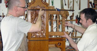 wood being restored