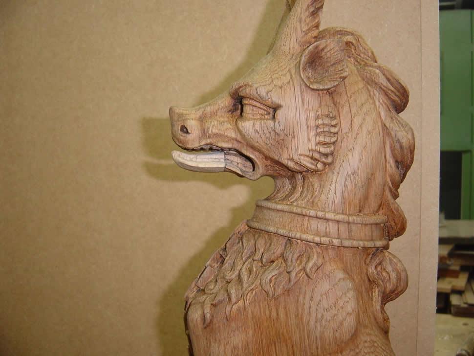 19th century carving repair