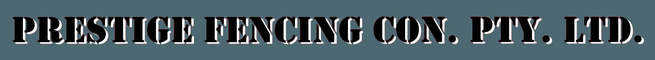 prestige fencing con. pty. ltd logo
