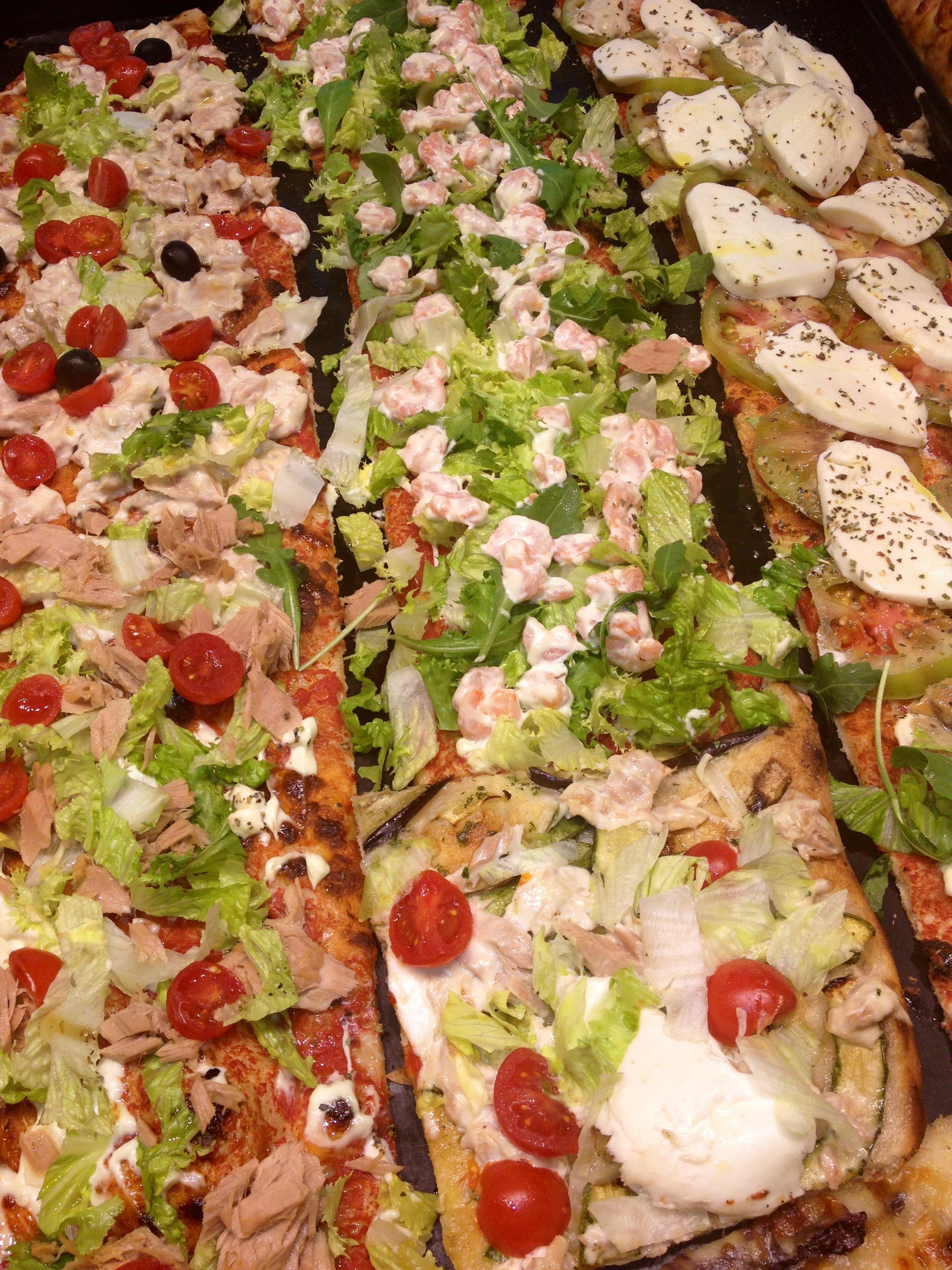 Pizze di diversi gusti
