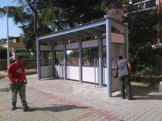 realizzazione fermata bus
