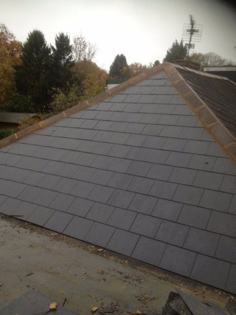 newly laid roof