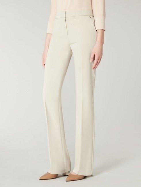 MAX MARA - Pantaloni in raso di cotone